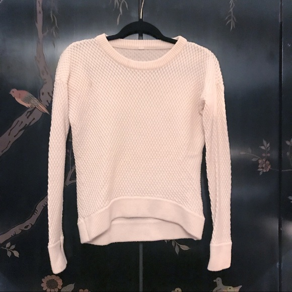 Lululemon Diamond Print sweater with thumb holes